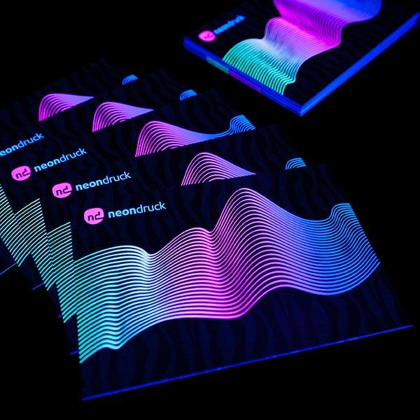 Schwarzlicht Neon Flyer
