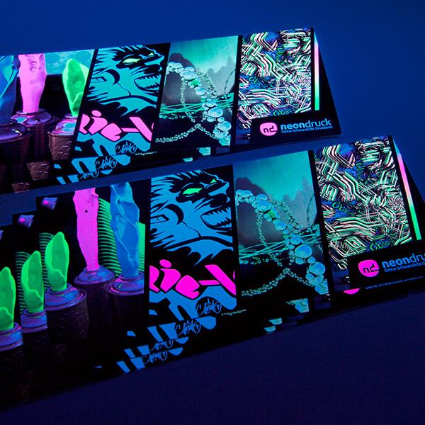 Neon Postkarte UV