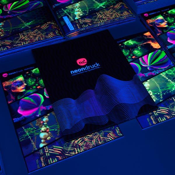 Neondruck Muster Mappe Stoff