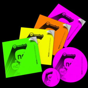 Neon Papier Sticker 80g